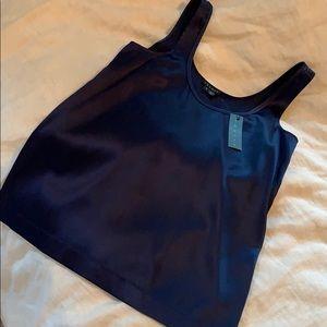 Theory blue silk dress shirt
